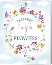 Earth Laughs by Green Girl Canvas Canvas Art