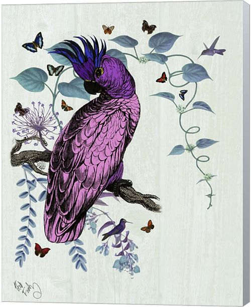 Metaverse Pink Parrot By Fab Funky Canvas Art