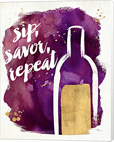 Watercolor Wine II by Pela Studio Canvas Art