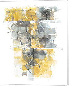 Moving In and Out of Traffic I Yellow Grey by Mike Schick Canvas Art