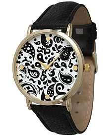 Paisley Leather Strap Watch