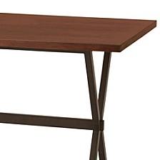 Valencia Contemporary Rectangular Bar Table In Auburn Bay Finish With Sedona Wood Top