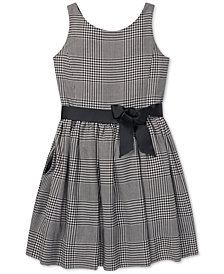 Polo Ralph Lauren Big Girls Glen Plaid Dress