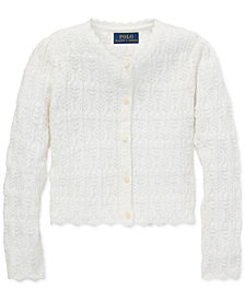 Polo Ralph Lauren Little Girls Pointelle Cardigan