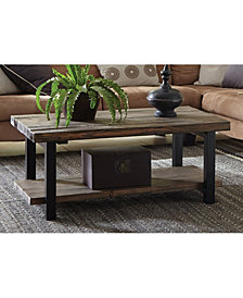 "Pomona 42"" Metal and Reclaimed Wood Coffee Table"