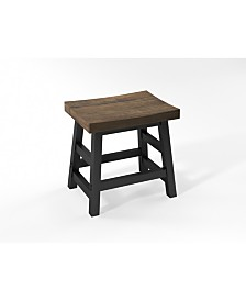 "Pomona - Reclaimed Wood 20""H Barstool with Metal Legs"