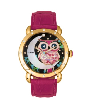 Quartz Ashley Collection Gold And Pink Leather Watch 38Mm