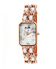 Bertha Quartz Eleanor Collection Rose Gold And White Stainless Steel Watch 26Mm
