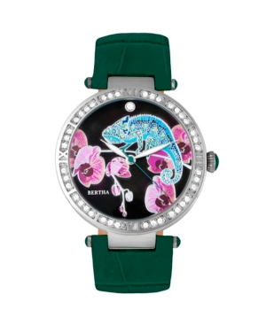 Quartz Camilla Collection Teal Leather Watch 38Mm