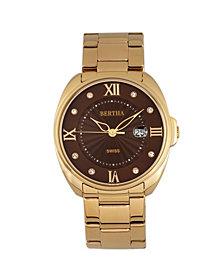 Bertha Quartz Amelia Collection Gold Stainless Steel Watch 38Mm