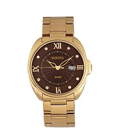 Bertha Quartz Amelia Collection Gold Stainless Steel Watch 38Mm