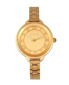 Bertha Quartz Madison Collection Gold Stainless Steel Watch 36Mm