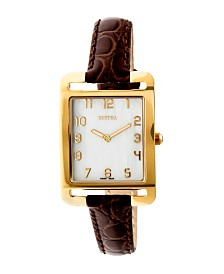 Bertha Quartz Marisol Collection Dark Brown Leather Watch 21Mm