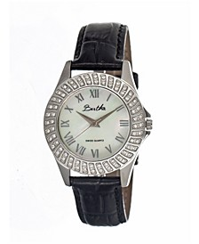 Quartz Audrey Collection Silver Leather Watch 32Mm