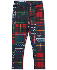 Polo Ralph Lauren Little Girls Patchwork Jersey Leggings