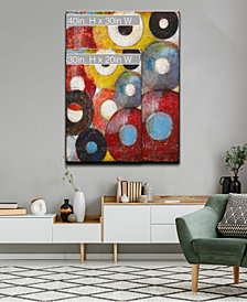 Ready2HangArt 'Color Wheels I' Colorful Abstract Canvas Wall Art Collection