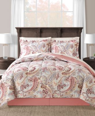 CLOSEOUT! Meral Reversible 8-Pc. Full Comforter Set
