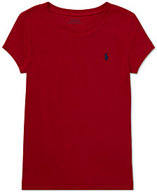 Polo Ralph Lauren Big Girls Short Sleeve T-Shirt