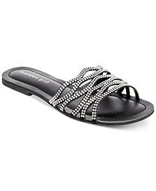 Madden Girl Sunday Rhinestone Slides