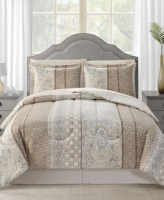 CLOSEOUT! Helena Reversible 8-Pc. Full Comforter Set