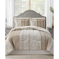 Sunham Helena Reversible 6-Pc. Twin Comforter Set
