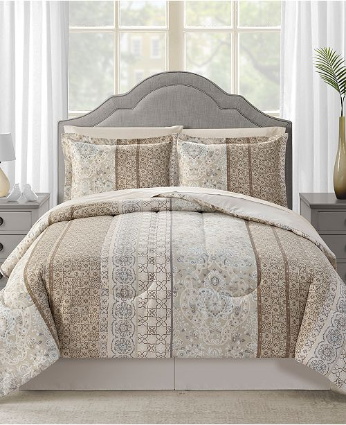 Sunham CLOSEOUT! Helena Reversible 8-Pc. Comforter Sets