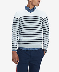 Tommy Hilfiger Men's Signature Coast Colorblocked Stripe V-Neck Sweater, Created for Macy's