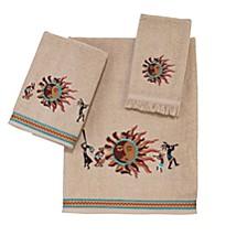 Southwest Sun Embroidered Bath Towel