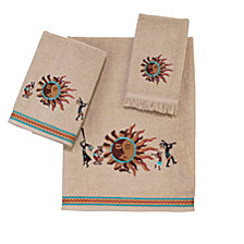 Avanti Southwest Sun Embroidered Fingertip Towel