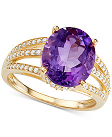 Amethyst (5-1/8 ct. t.w.) & Diamond (1/3 ct. t.w.) in 14k Gold