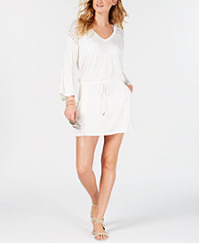 Calvin Klein Bell-Sleeve Tunic Cover-Up