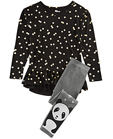 Epic Threads Big Girls Dot-Print Top & Sweater Leggings, Created for Macy's