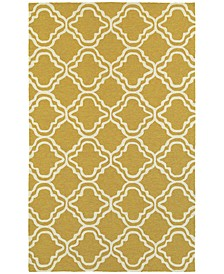 CLOSEOUT!   Atrium Indoor/Outdoor 51112 Gold/Ivory 8' x 10' Area Rug