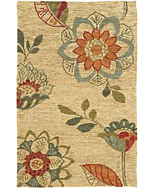 Tommy Bahama Home  Valencia 57709 Beige/Multi 5' x 8' Area Rug