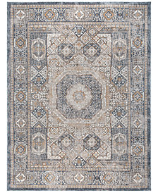 "KM Home Harper HA3107 Navy 9'2"" x 12'6"" Area Rug"