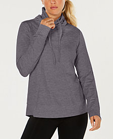 32 Degrees Fleece Quilted Funnel-Neck Top
