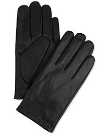Calvin Klein Men's Fleece-Lined Leather Gloves