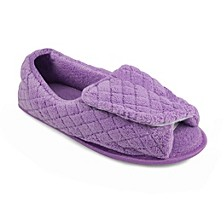 Micro Chenille Open Toe Slippers