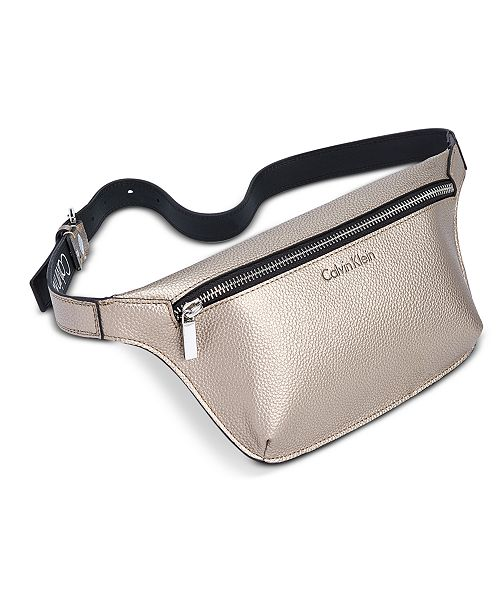 d9532249 Calvin Klein Pebble Leather Fanny Pack & Reviews - Handbags ...