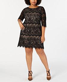 Jessica Howard Plus Size Scalloped Lace Dress