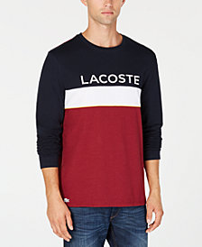 Lacoste Men's Colorblocked Long-Sleeve T-Shirt, Created for Macy's