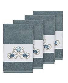 Bella 4-Pc. Embroidered Turkish Cotton Hand Towel Set