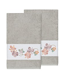 Caroline 2-Pc. Embroidered Turkish Cotton Bath Towel Set
