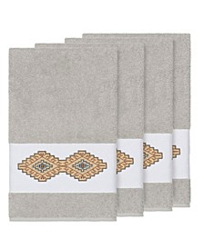 Gianna 4-Pc. Embroidered Turkish Cotton Bath Towel Set