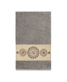 Linum Home Isabelle Embroidered Turkish Cotton Bath Towel