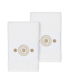 Isabelle 2-Pc. Embroidered Turkish Cotton Hand Towel Set