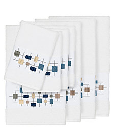 Linum Home Khloe 8-Pc. Embroidered Turkish Cotton Bath and Hand Towel Set