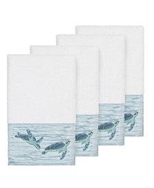 Linum Home Mia 4-Pc. Embroidered Turkish Cotton Hand Towel Set