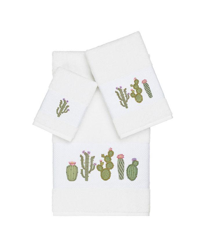 Linum Home - Mila 3-Pc. Embroidered Turkish Cotton Towel Set