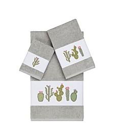 Mila 3-Pc. Embroidered Turkish Cotton Towel Set